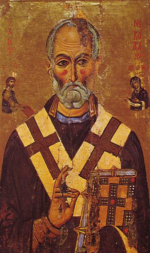 Святитель Николай (икона из монастыря Святой Екатерины, XIII век)