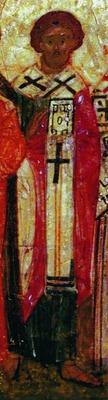 Ап. Иуда. Фрагмент иконы «Минея годовая». 1-я пол. XVI в. (Музей икон, Рекклингхаузен)