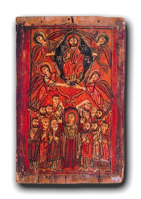 Вознесение Господне. Икона. VIII-IX вв. (мон-рь вмч. Екатерины на Синае)